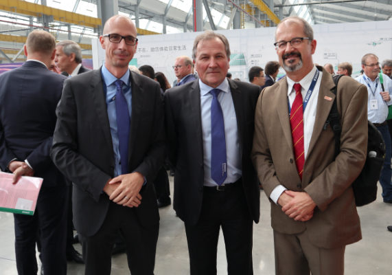 Mike Häfeli, Bühler (head of Grain Quality and Supply); Rene Steiner, Bühler North America; and Dirk Maier, Iowa State University.