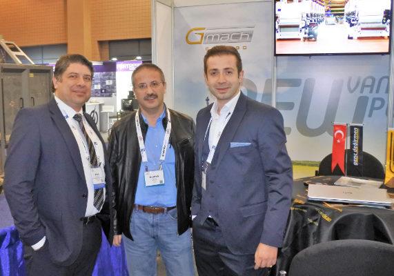 From left, Aydin Sarucan, Genc Degirmen, Ali Goktas, Yenar, and Alp Can, GMACH.