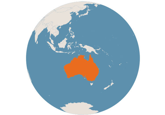 Australia globe e