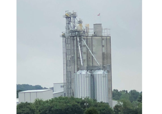 Construction on the six-story, 141-foot-tall feed mill began in the winter of 2017.   Photos by Arvin Donley.