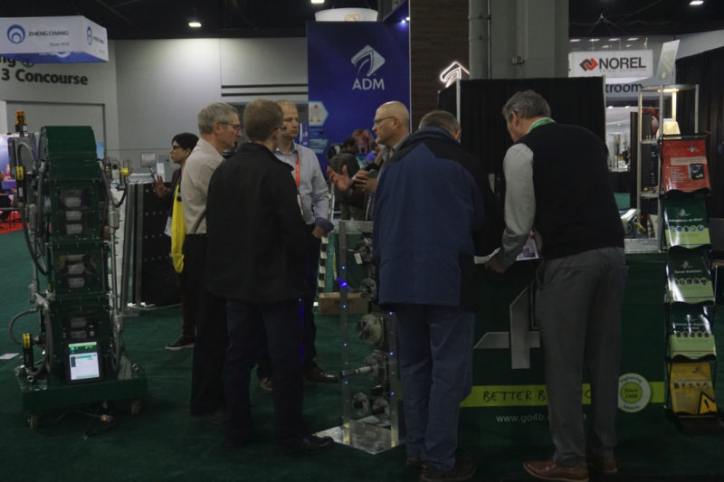 The 4B booth saw many visitors during the IPPE.