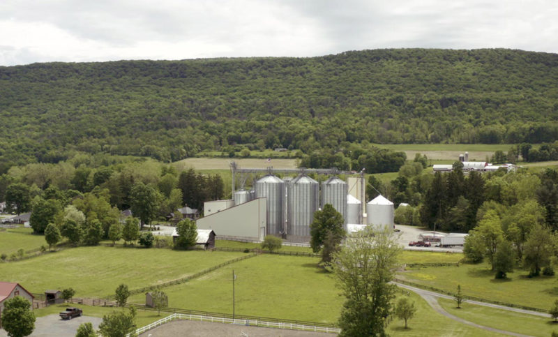 Pennsylvania has the largest number of mills in the United States at 13, with a total capacity of 95,116. Pictured above is Snavely's Mill, Inc.'s facility in Mill Hall. Other mills in the state include Snavely's facilities in Lititz and Mifflinville; Ardent Mills' facilities in Martins Creek, Pocono Summit and York; ADM Milling in Camp Hill; F.M. Brown's Sons in Fleetwood; Small Valley Milling in Halifax; Wilkins-Rogers in Mount Joy and Palmyra; Ag Com in New Oxford; and Essential Eating Sprouted Flours in Waverly.