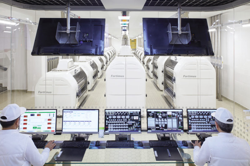 A high degree of automation at Toru Un's plant means millers can automatically control feeder roll speed of the Fortimus roller mills supplied by Selis.