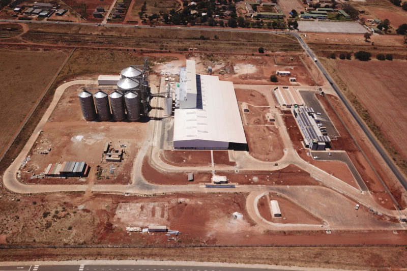 Seaboard's subsidiary, National Milling Corporation, in October began operations at a new flour mill near Lusaka, Zambia. Photos courtesy of Seaboard.