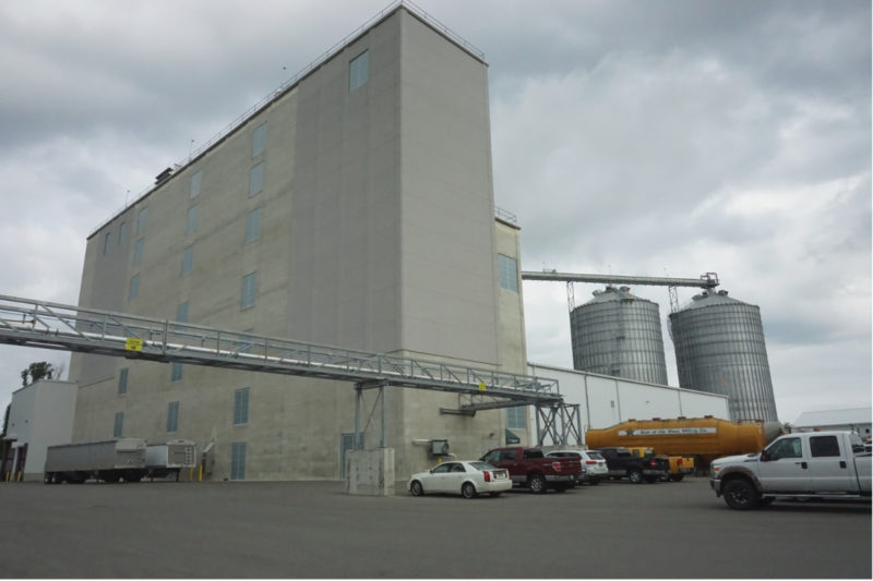 The Star of the West flour mill has a capacity of 10,000 cwts and storage of more than 1 million bushels.