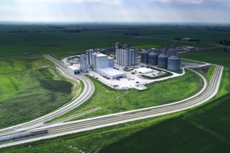 An aerial view of ADM Milling's new flour mill constructed on 150 acres near Mendota, Illinois, U.S.