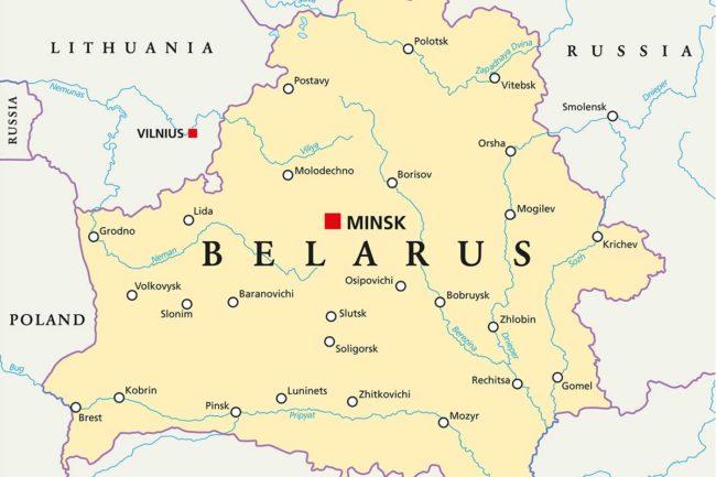 Belarus, Map