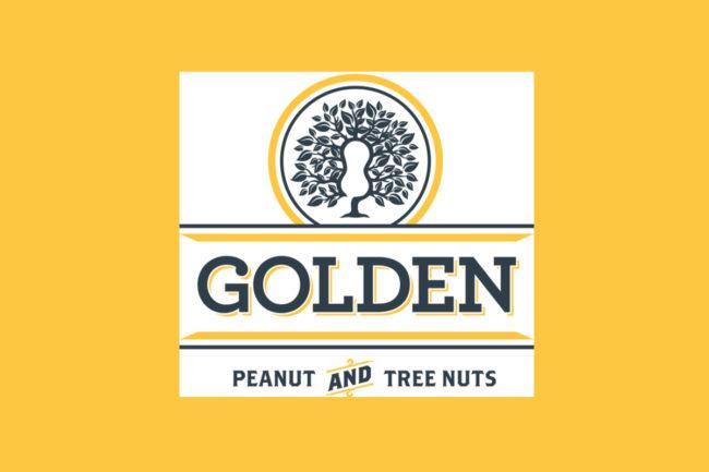 Golden peanut logo