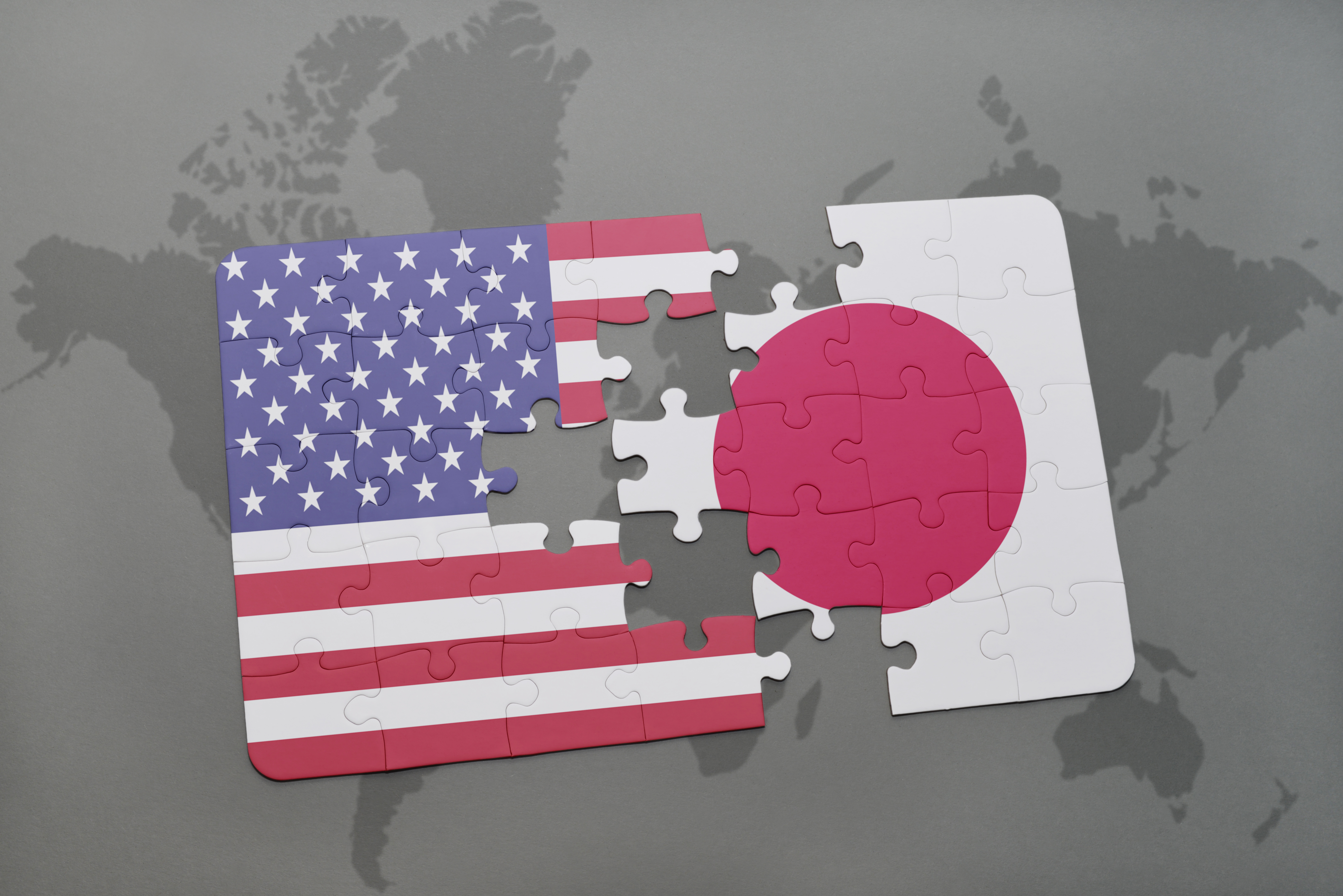 Japan US flags