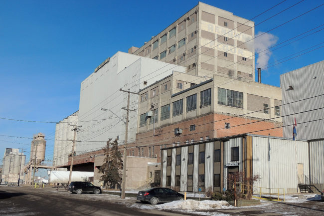 ADM flour milling facility in Calgary