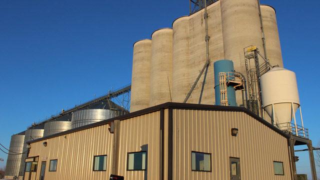 Bunge grain facility in Montana