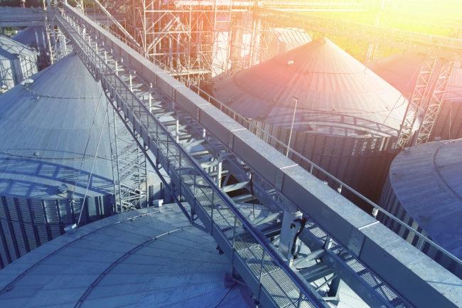 grain silos