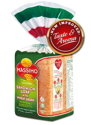 Italian baker massimo sandwich loaf with wheat germ photo cred italian baker e