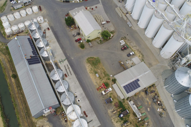 Lundberg Family Farm solar panel install