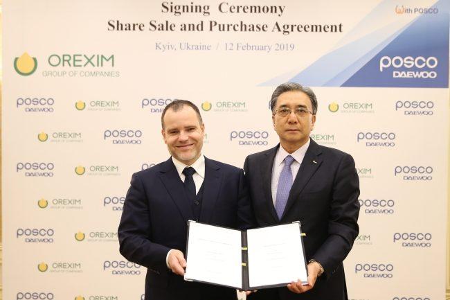 Orexim Group Posco Daewoo agreement signing
