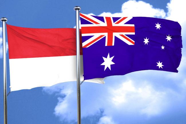 Australia Indonesia flags