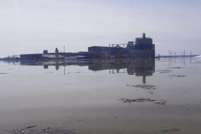 Manildra Group USA flooded facility in Hamburg Iowa