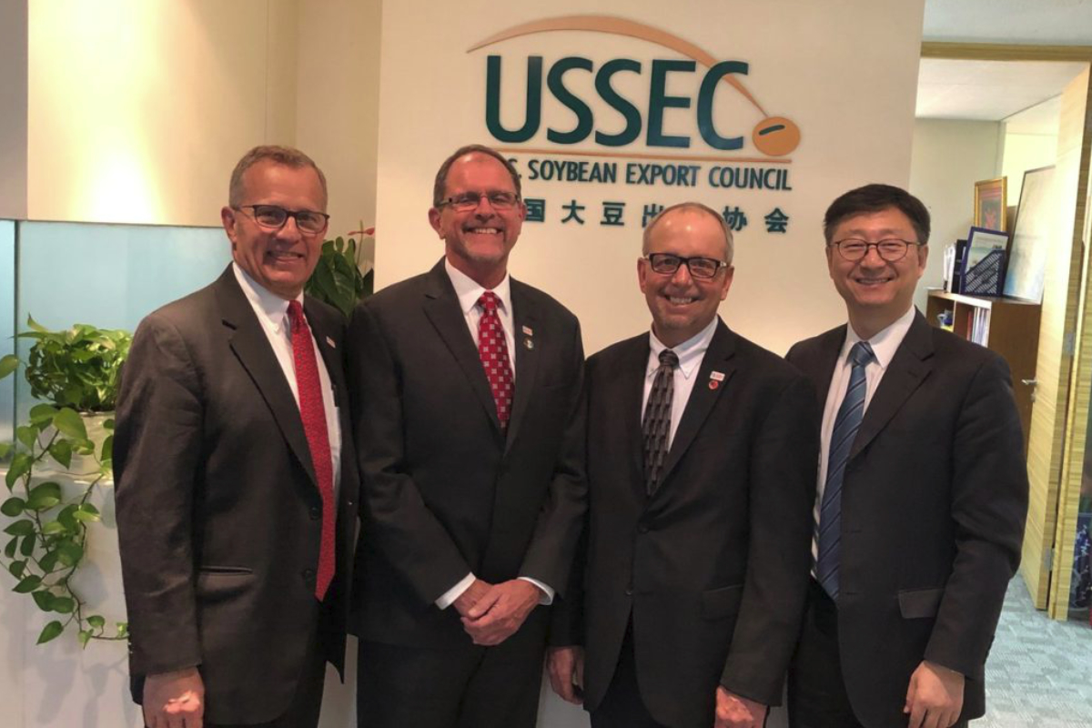 US soy leaders meet with Chinese importers