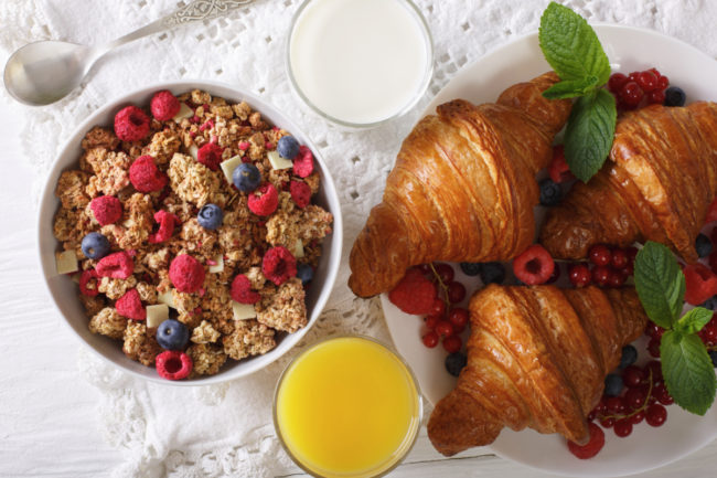 baked foods and cereals