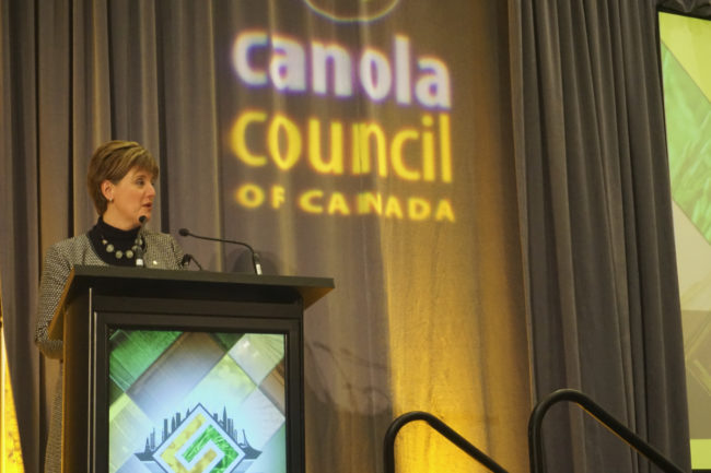 Marie-Claude Bibeau Canadian Minister of Agriculture and Agri-Food