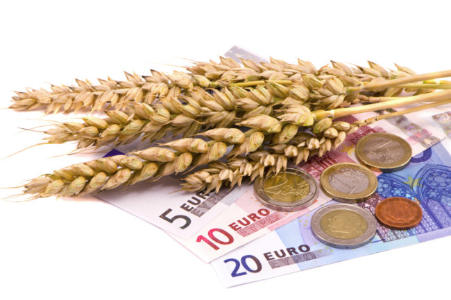 wheat and euros