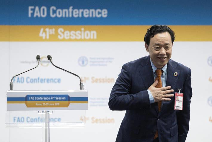 Qu Dongyu director-general of FAO
