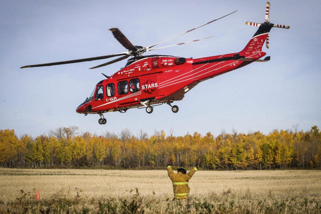 STARS ambulance helicopter
