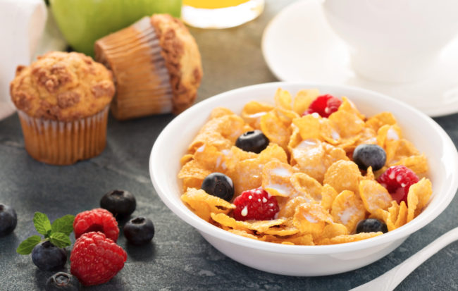 cereal and muffin