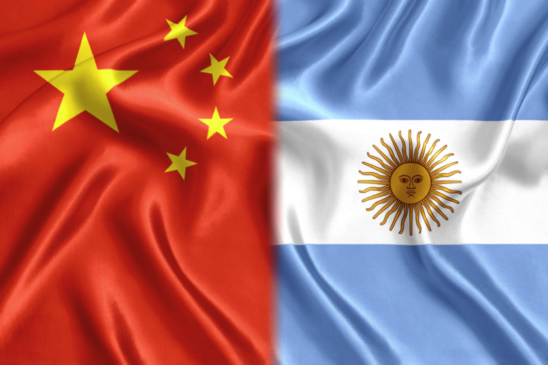 China Argentina flags