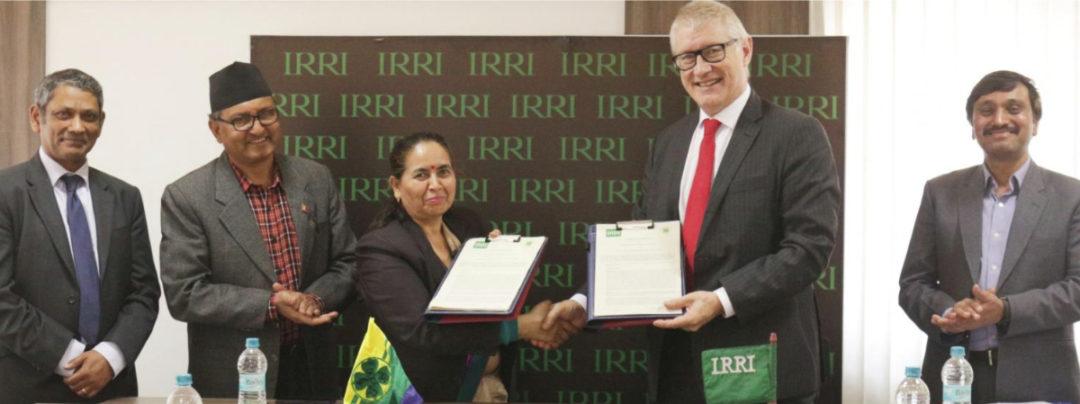 IRRI MoU signing