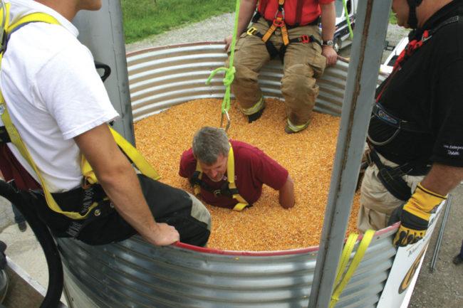 grain entrapment
