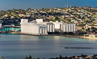 Viterra port of lincoln on the southern edge of eyre prninsula 682 km from adelaide photo cred viterra