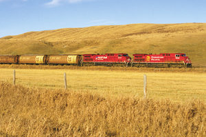 Canadian pacific train wheat field photo courtesy of canadian pacific e1