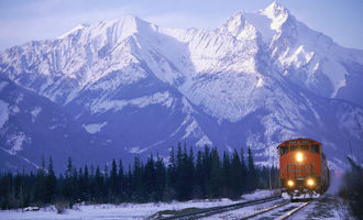 Candian national railway jasper alberta  photo courtesy of cn e