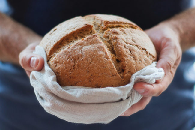 bread made from quinoa flour