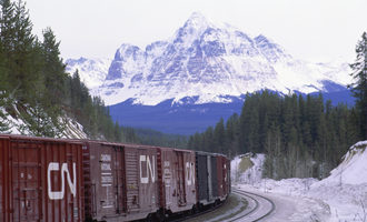 Canadian national railway  fitzwilliam british columbia photo courtesy of cn e