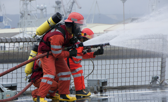 Port firefighters  adobestock 25842779 e