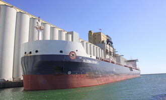 Port of thunder bay algoma equinox loads grain at the port of thunder bay  photo credthunder bay port authority e
