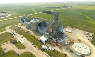 Mid iowa cooperative damgaed grain elevator midway site photo creed of mid iowa cooperative fb page e