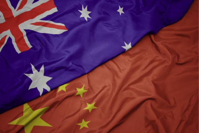 China Australia flag