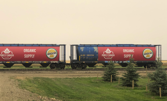 Purely canada foods rail cars photo cred purely canada foods e