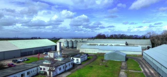 grain storage site in Gladsmuir in East Lothian