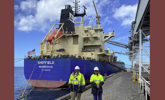 Viterra  vessel loading at our port giles terminal photo cred viterra e 1