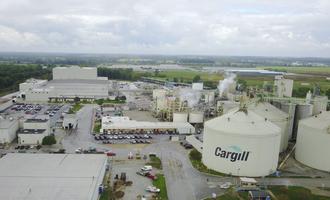 Cargill sidney ohio soy crush facility pre construction photo cred cargill e
