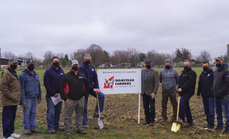 Wanstead farmers cooperative groundbreaking alvinston ontario canada site wanstead farmers cooperative e