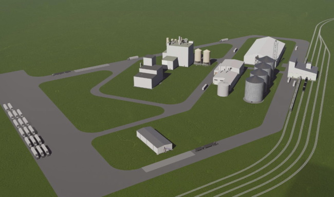 SRSP soybean processing plant