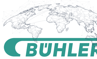 Bhler connects with its virtual world logo with world map logo cred buhler map cred adobe stock may e