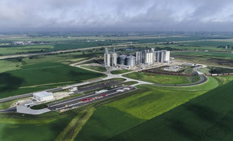Adm medota mill in illinois 2019 opening aerial photo courtesy of adm e