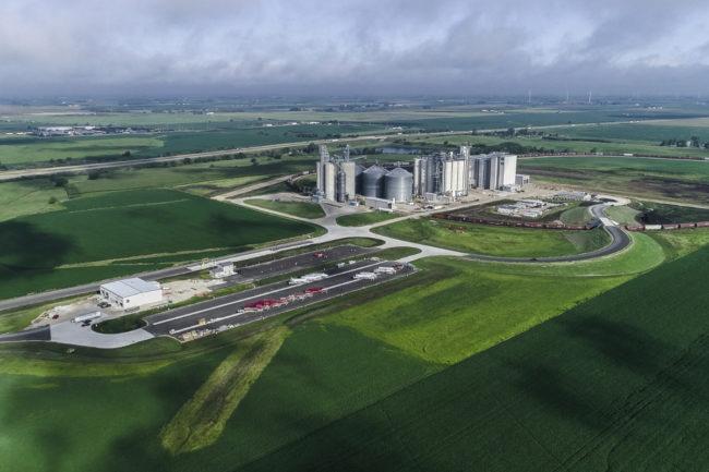 ADM flour mill in Mendota, Illinois