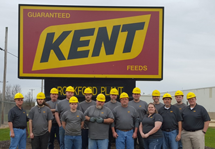 Staff of the Kent Nutrition Group Rockford, Ill., plant.